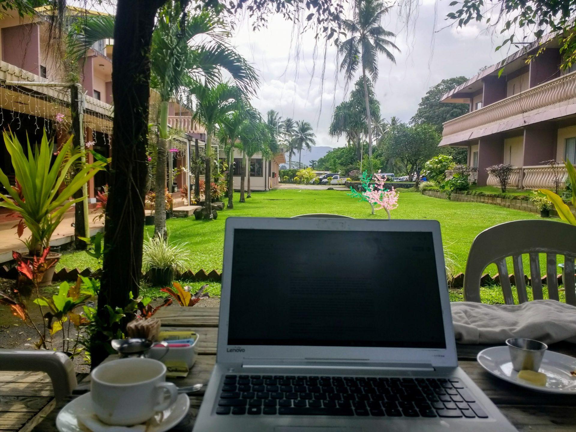 Over Yap schrijven op Pohnpei (Micronesië)