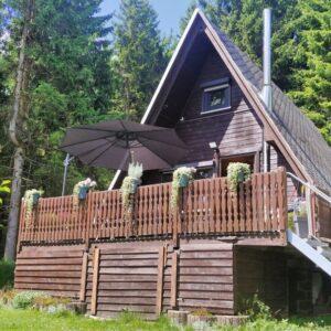 Vrijstaand natuurhuisje in Thüringen Duitsland